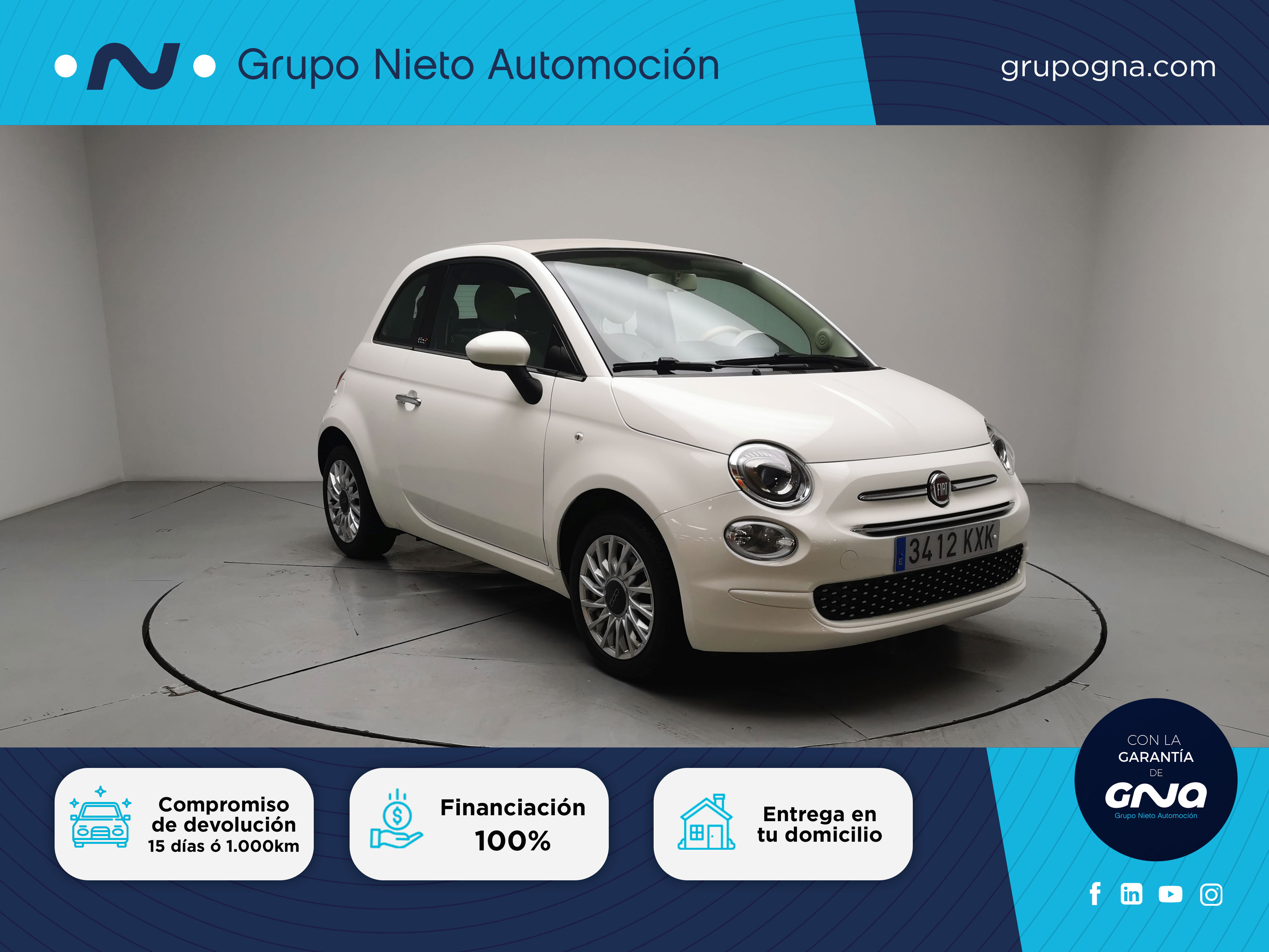 Array Fiat 500C 2019 Gasolina por 12.400€ en Málaga