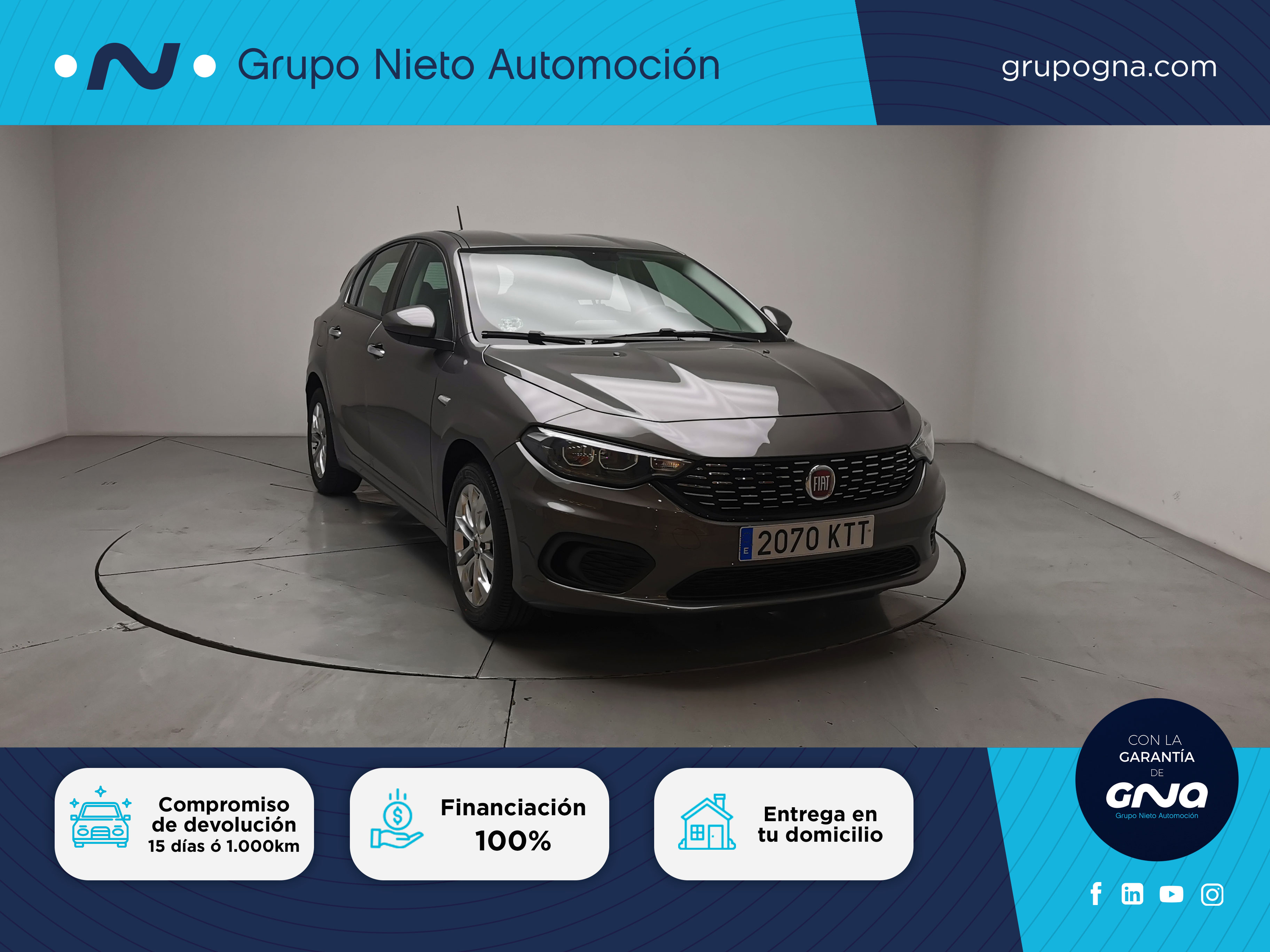Fiat Tipo ocasión segunda mano 2019 Diésel por 12.400€ en Málaga
