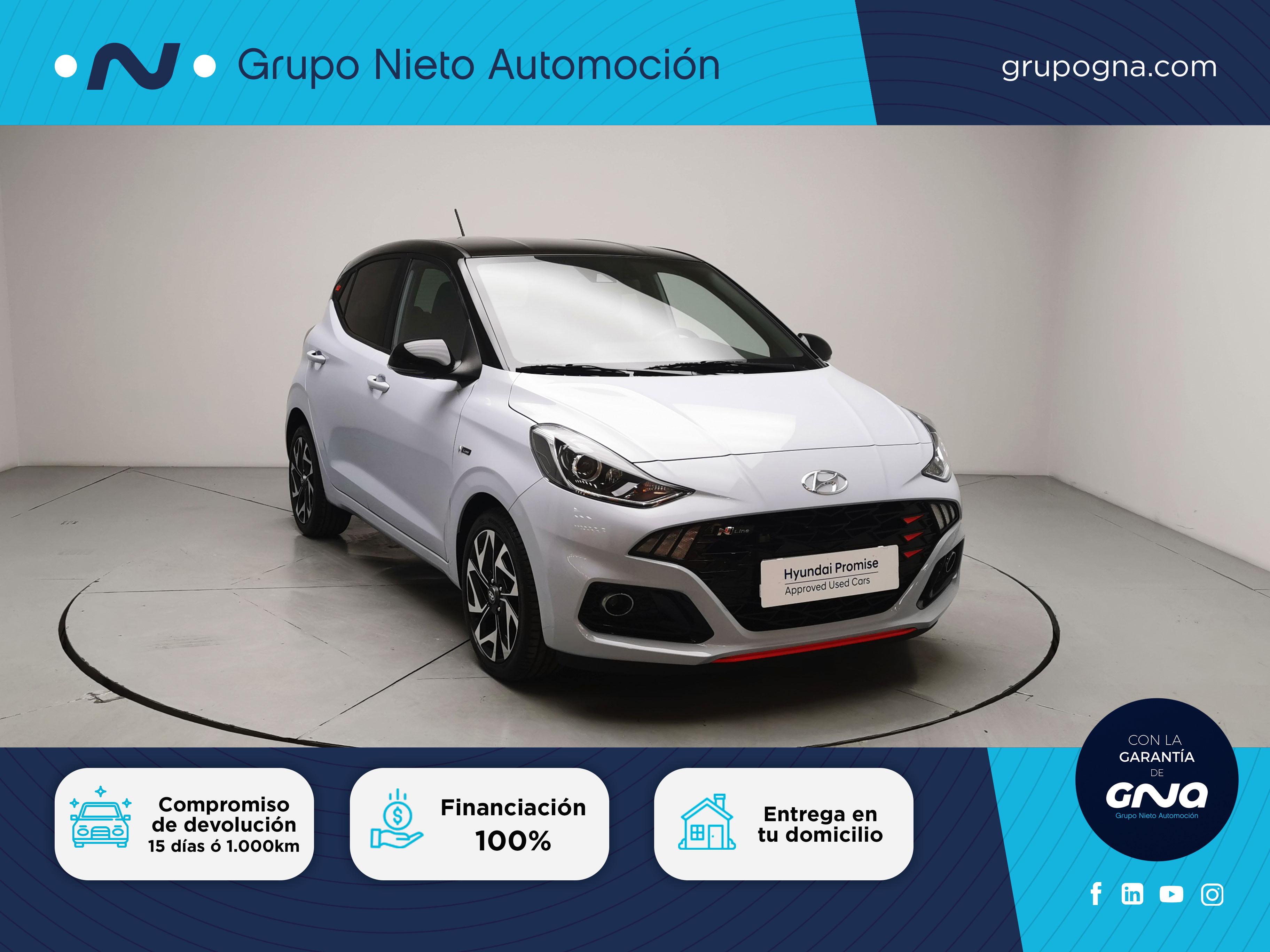 Hyundai i10 ocasión segunda mano 2021 Gasolina por 16.400€ en Málaga
