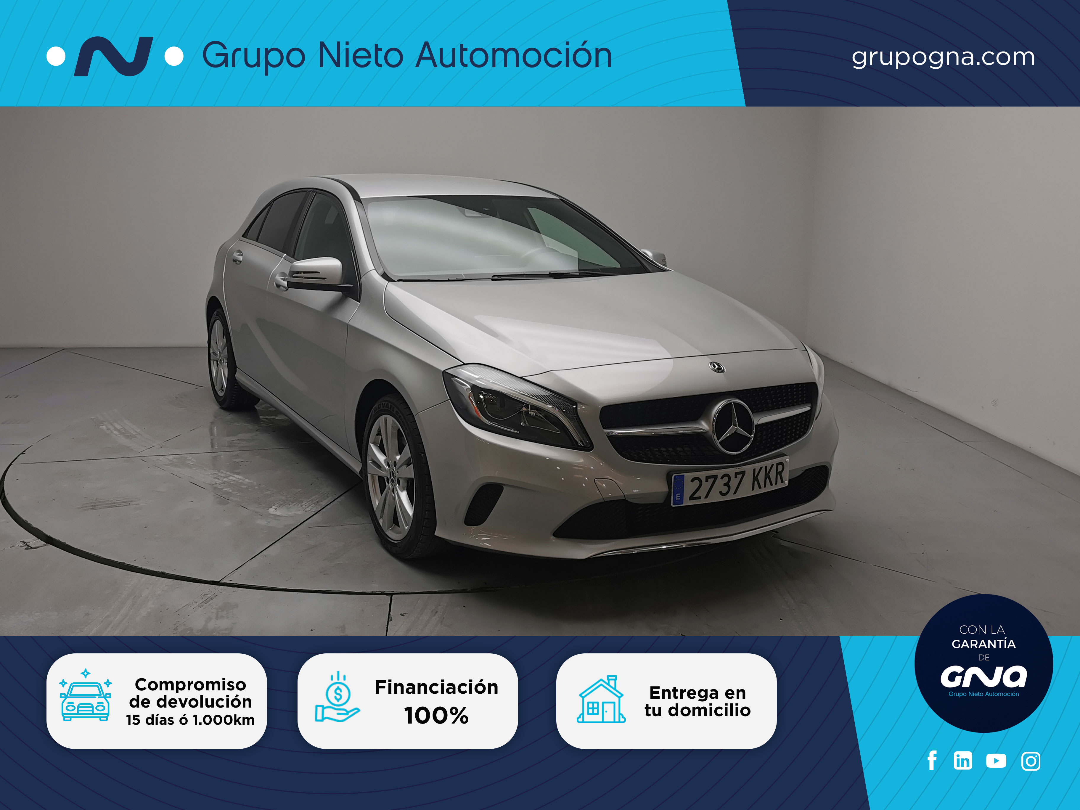 Mercedes Benz Clase A ocasión segunda mano 2018 Diésel por 26.800€ en Málaga