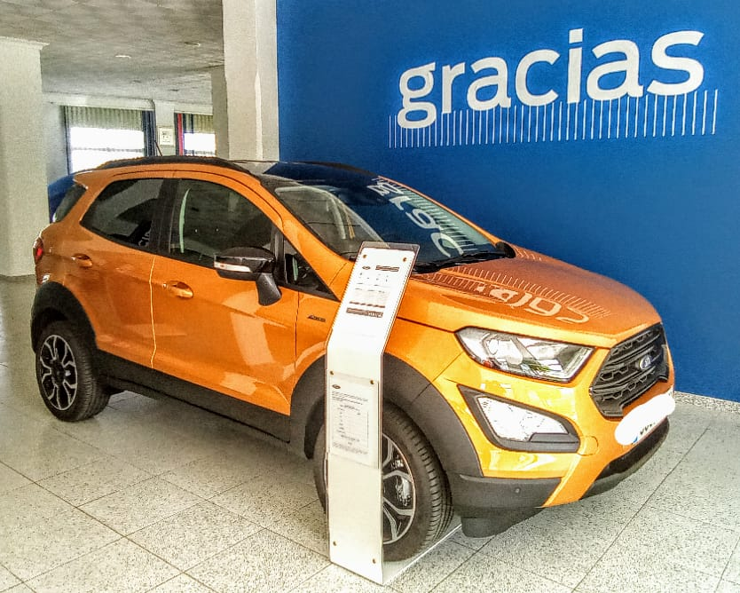 Ford Ecosport ocasión segunda mano 2021 Gasolina por 21.900€ en Málaga