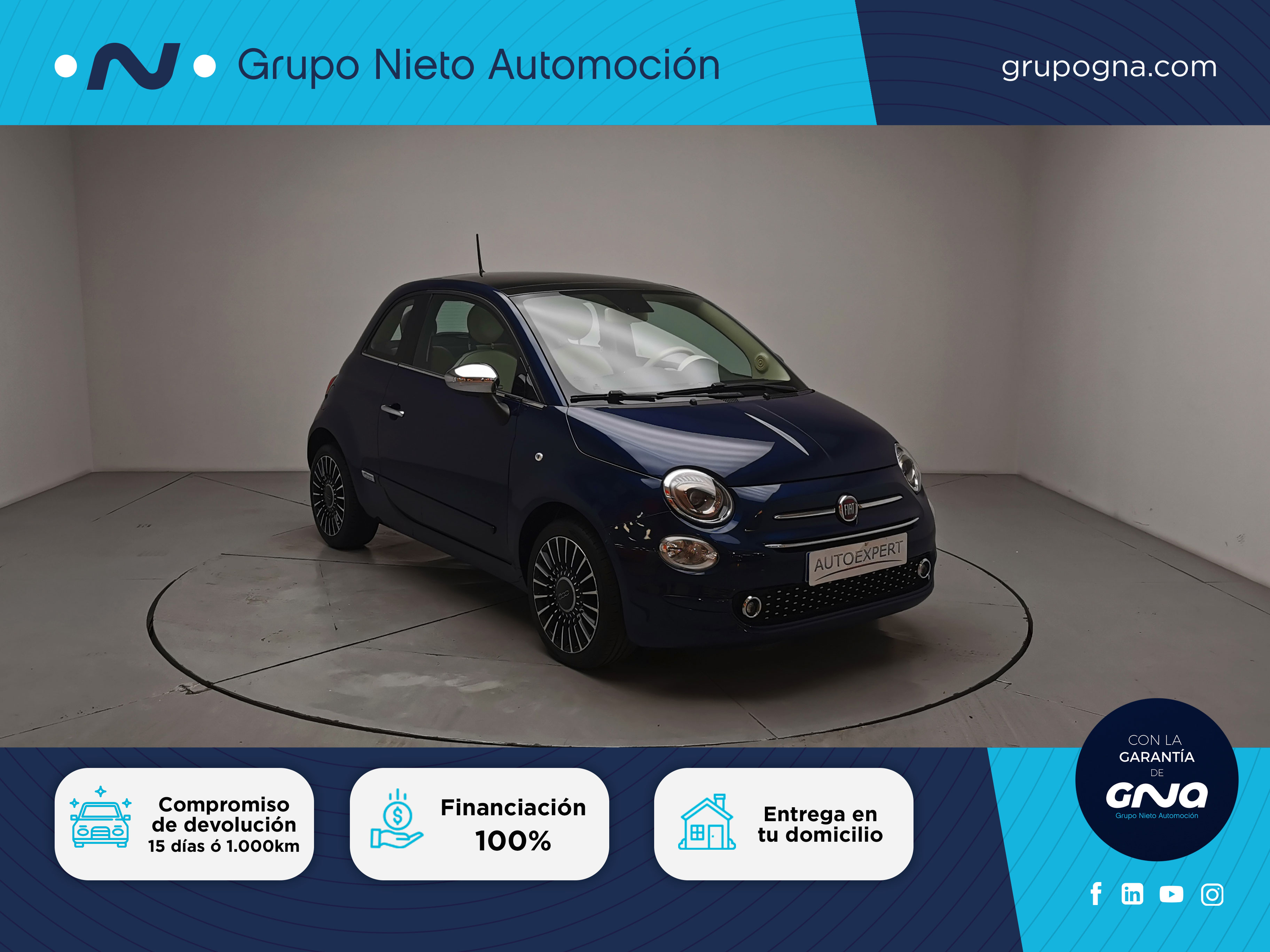 Fiat 500 ocasión segunda mano 2018 Gasolina por 12.500€ en Málaga