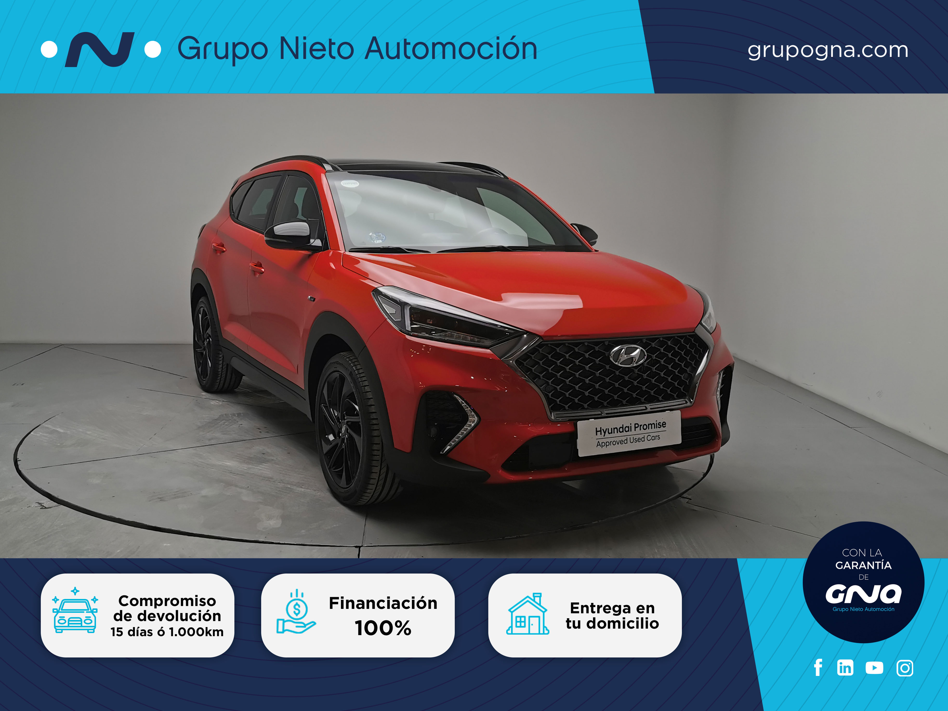 Hyundai Tucson ocasión segunda mano 2019 Gasolina por 29.900€ en Málaga