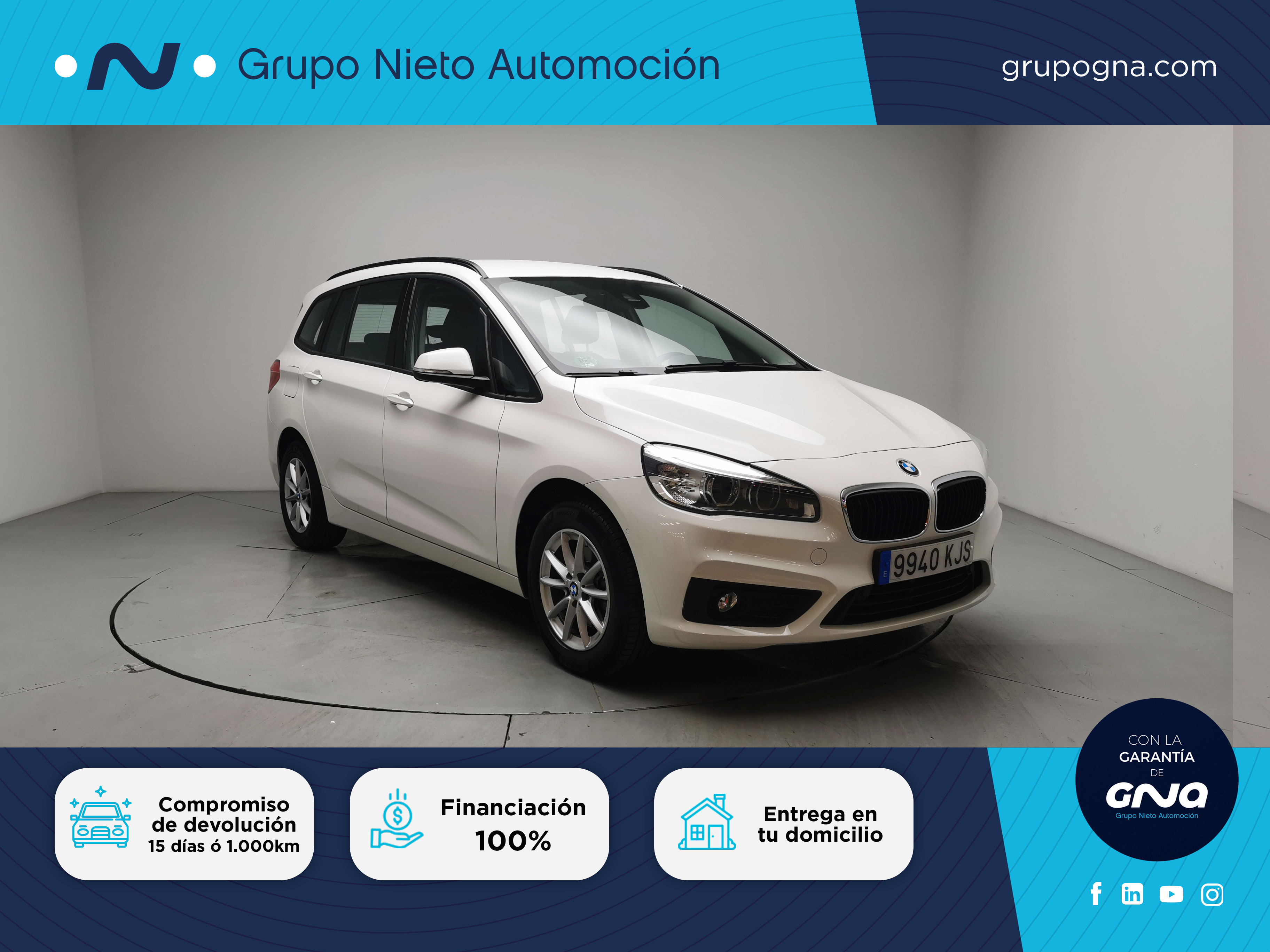 BMW Serie 2 Gran Tourer ocasión segunda mano 2018 Diésel por 19.800€ en Málaga