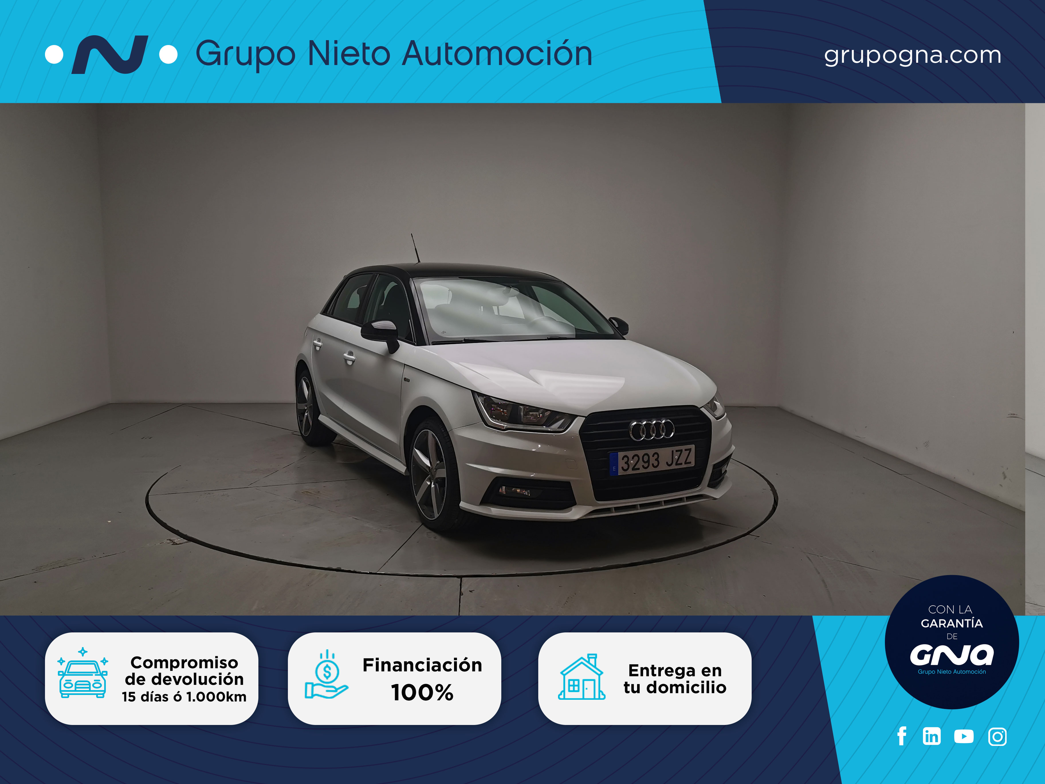 Audi A1 ocasión segunda mano 2017 Gasolina por 16.800€ en Málaga