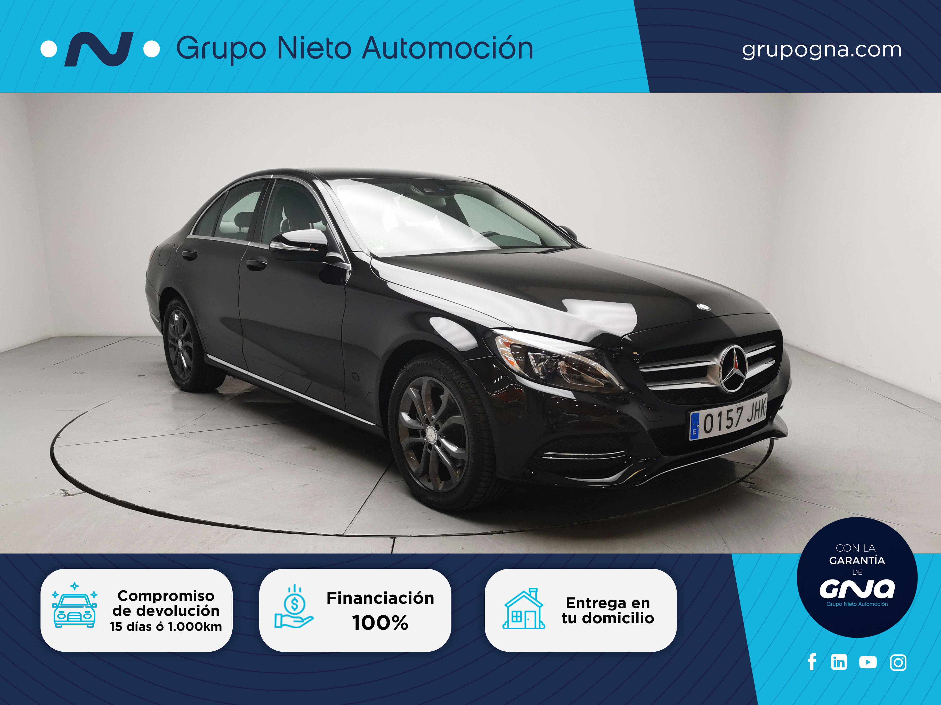 Mercedes Benz Clase C ocasión segunda mano 2015 Diésel por 23.800€ en Málaga