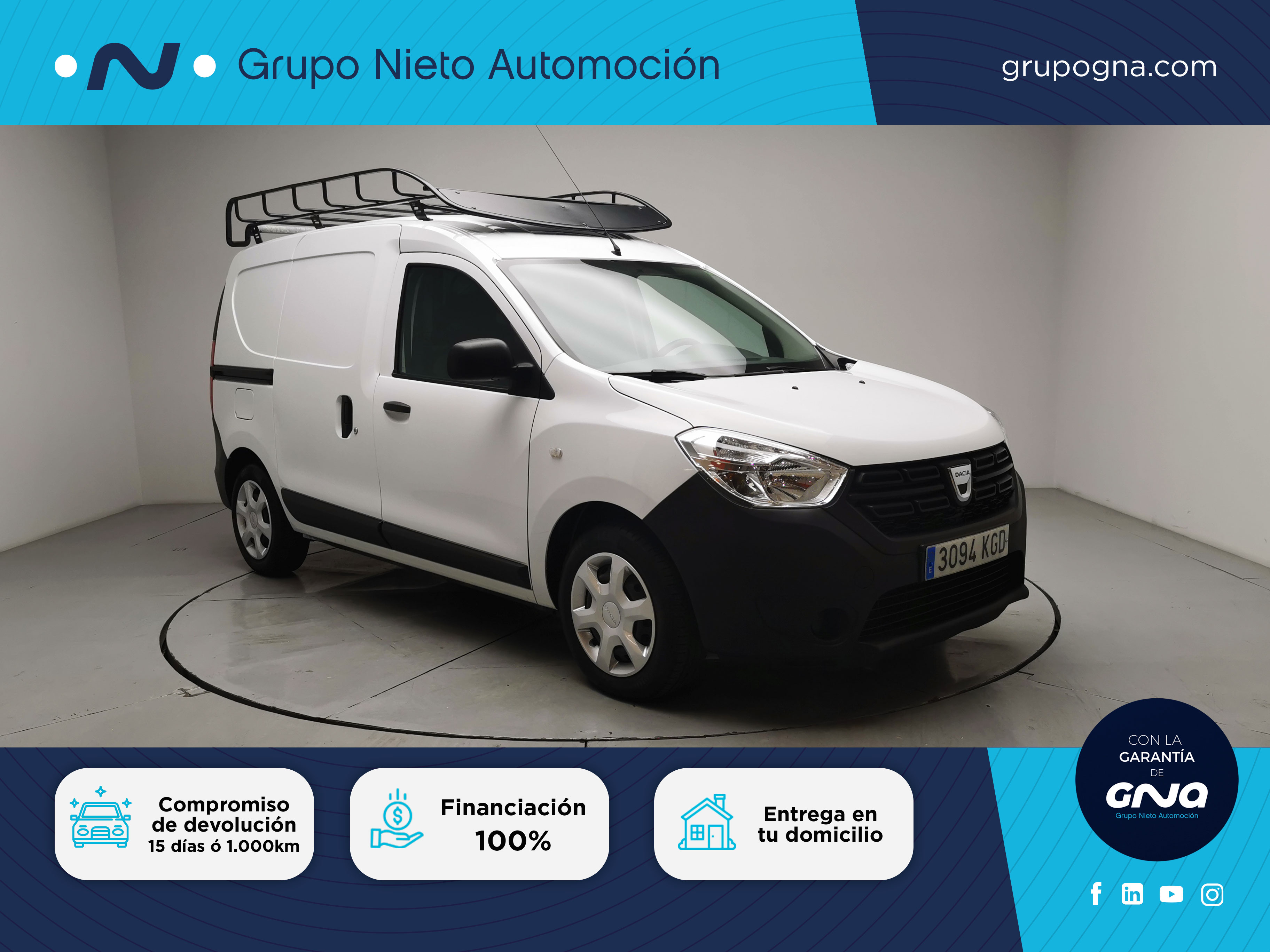 Dacia Dokker ocasión segunda mano 2017 Diésel por 10.900€ en Málaga