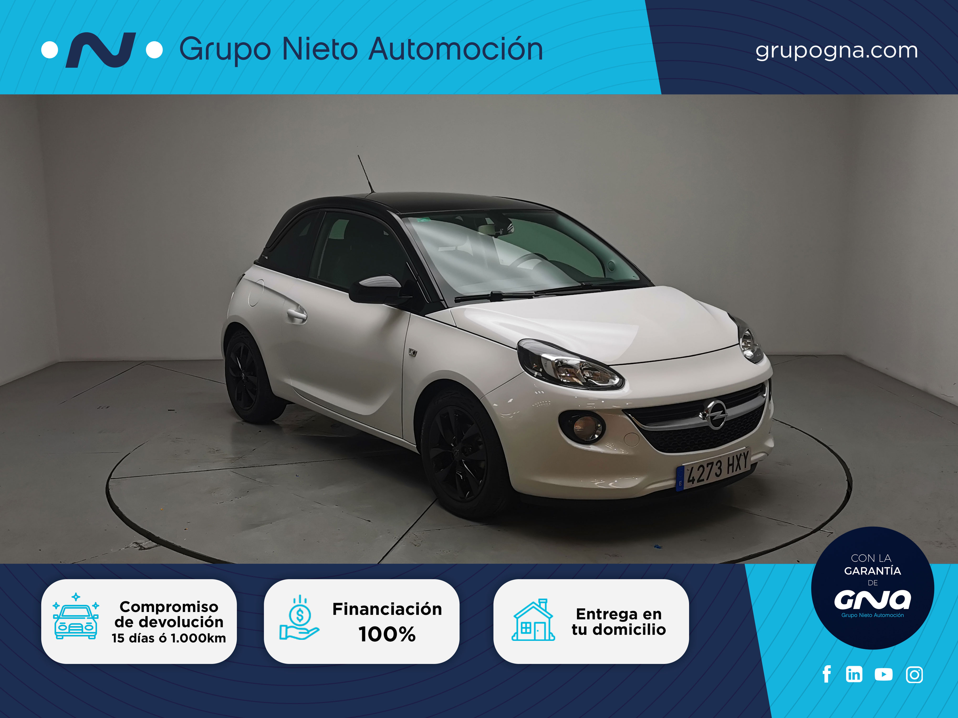 Opel Adam ocasión segunda mano 2014 Gasolina por 8.800€ en Málaga